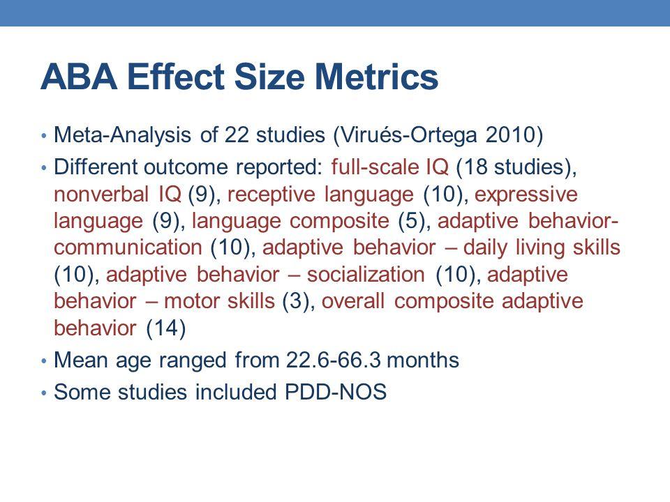 ABA Effect Size Metrics