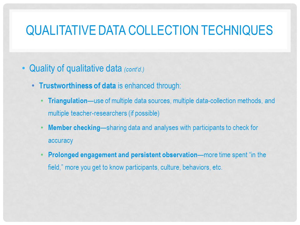 Qualitative Data Collection Techniques