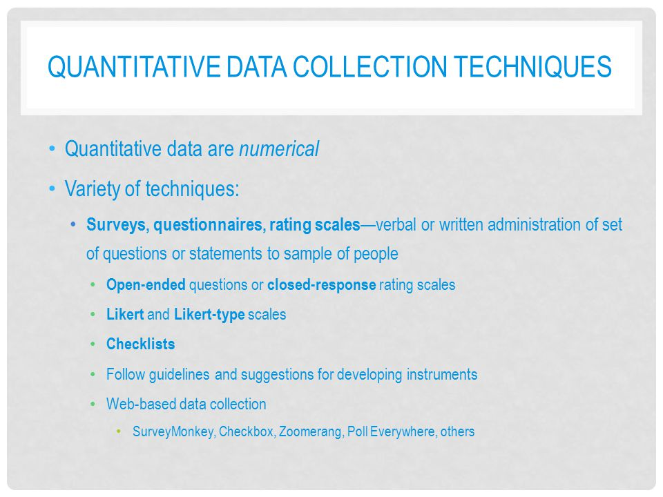 Quantitative Data Collection Techniques