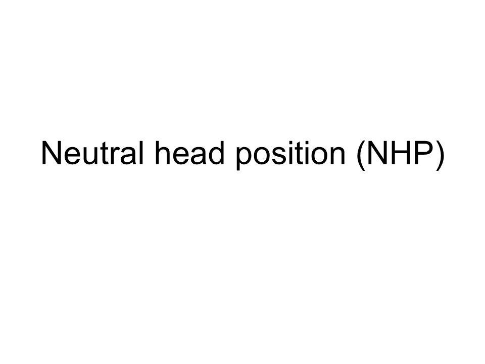 Neutral head position (NHP)
