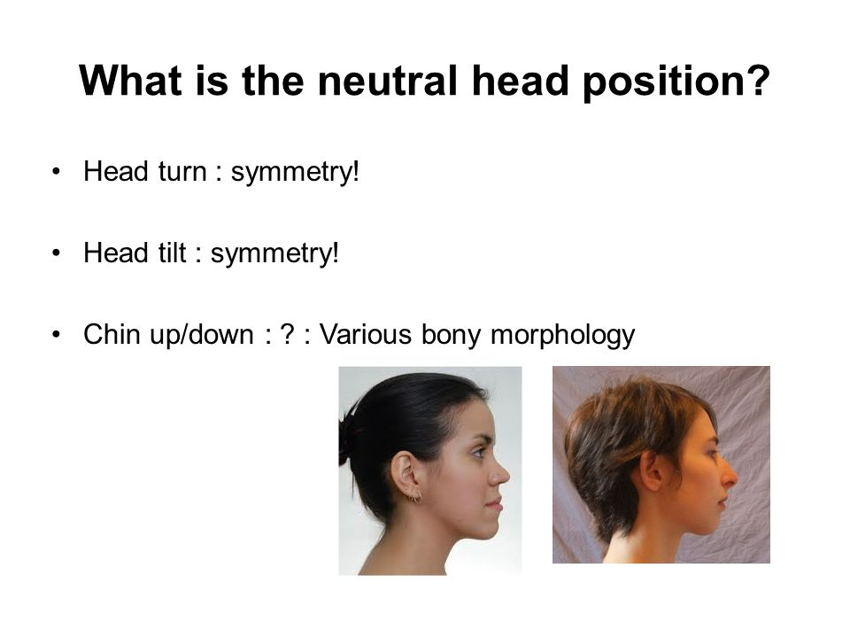 What is the neutral head position