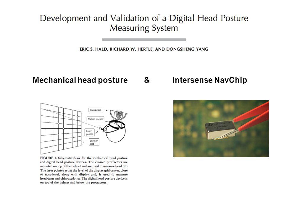 Mechanical head posture & Intersense NavChip