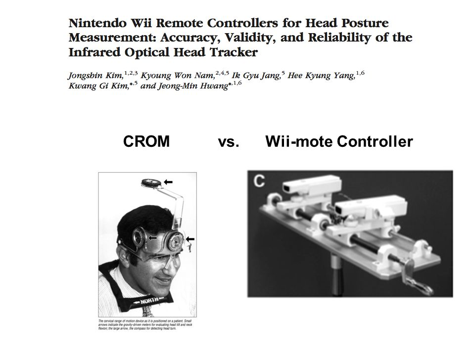 CROM vs. Wii-mote Controller
