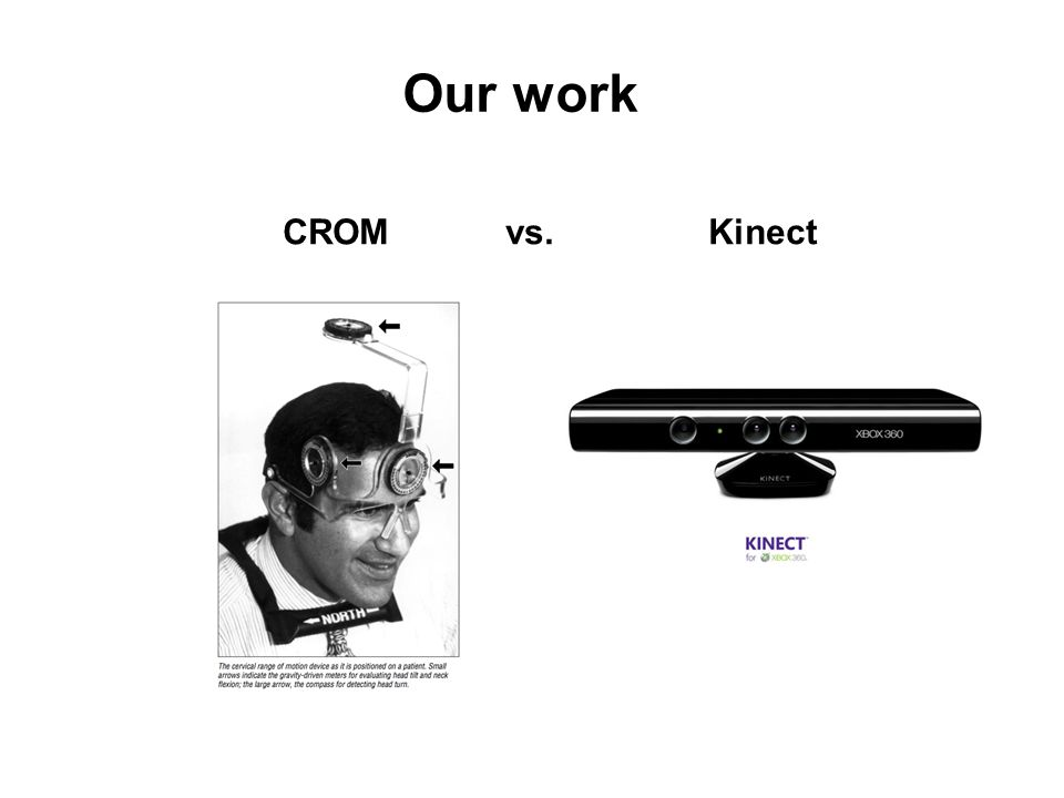 Our work CROM vs. Kinect