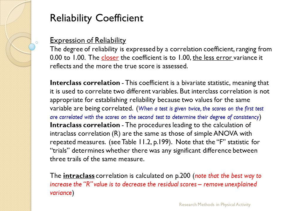types of reliability in research methods Research methods handbook introductory guide to research methods for social research these two types of research method and their output data.