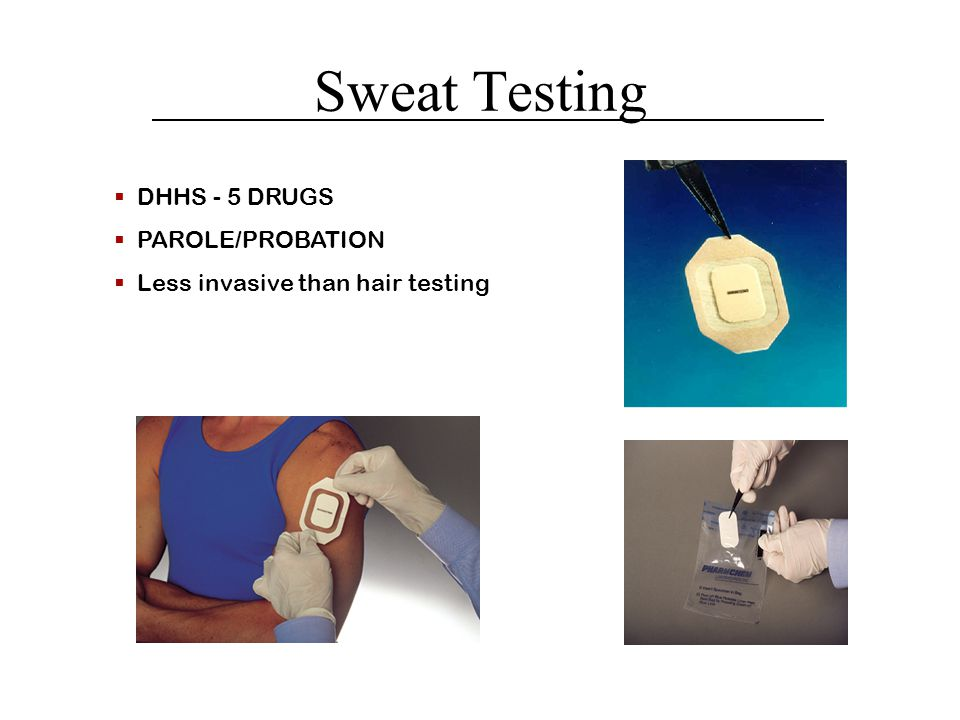 Sweat Testing DHHS - 5 DRUGS PAROLE/PROBATION