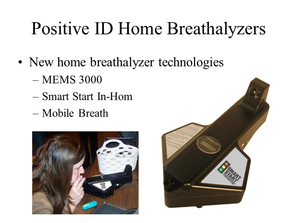 Positive ID Home Breathalyzers