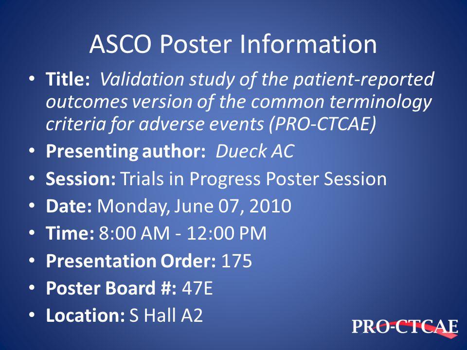 ASCO Poster Information