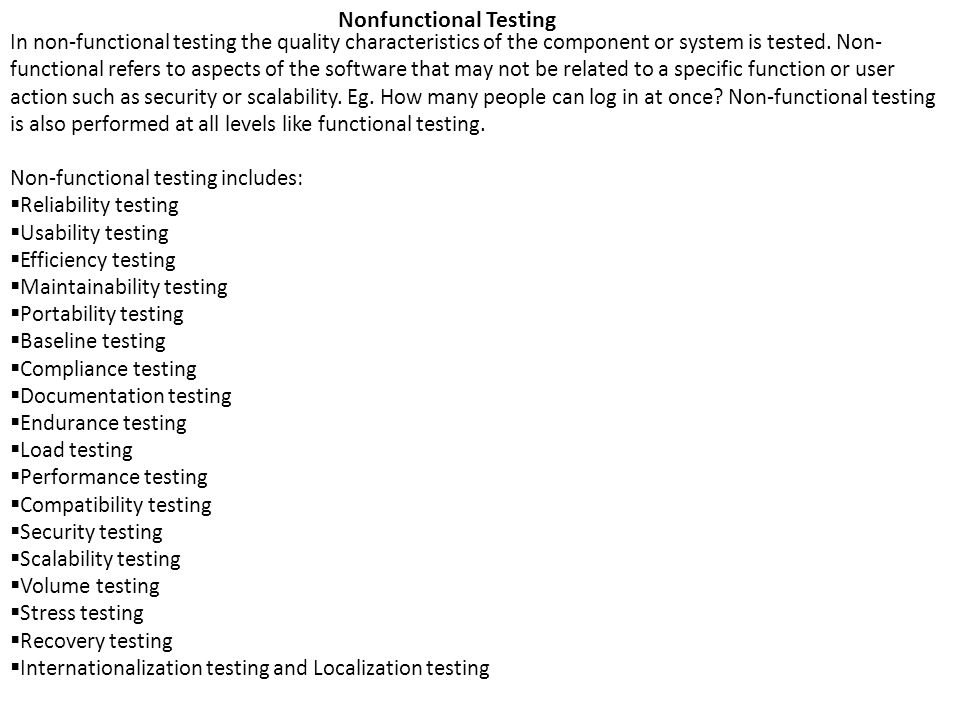 Nonfunctional Testing