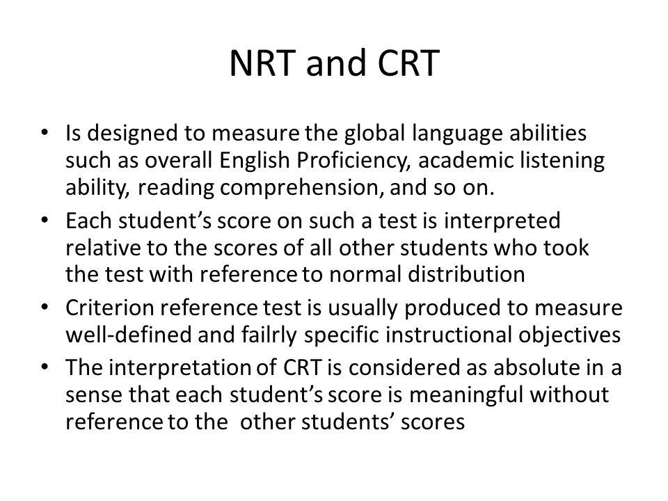 NRT and CRT