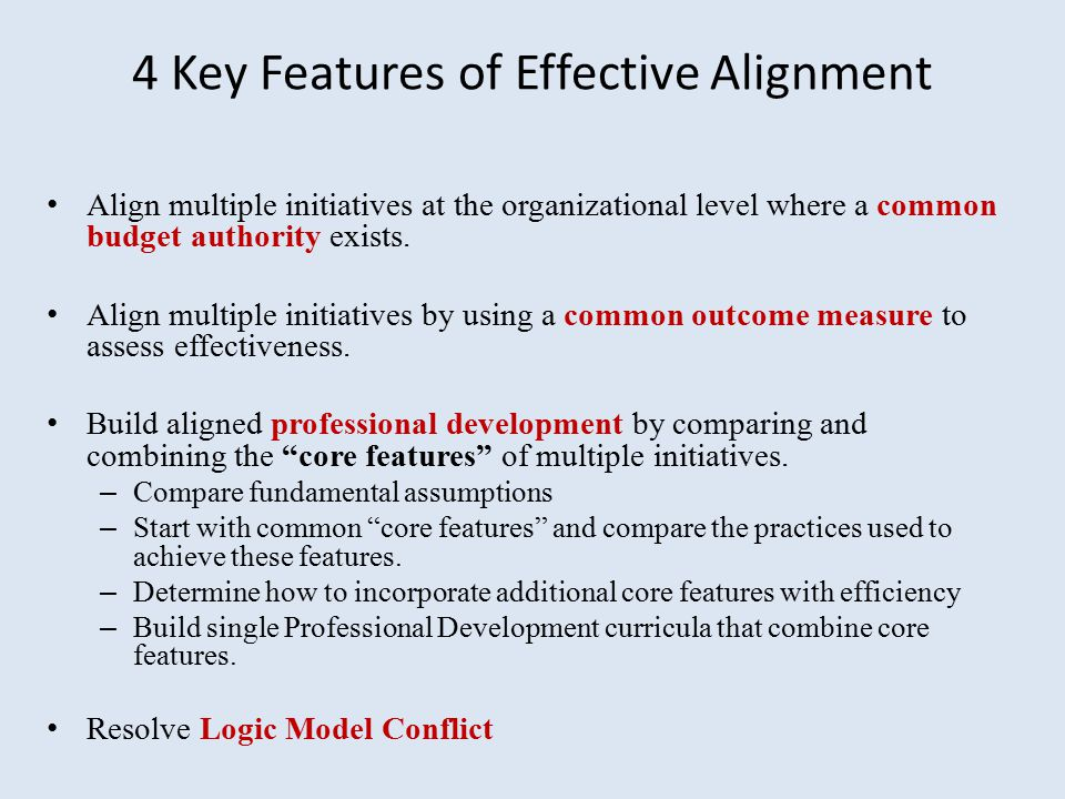 4 Key Features of Effective Alignment