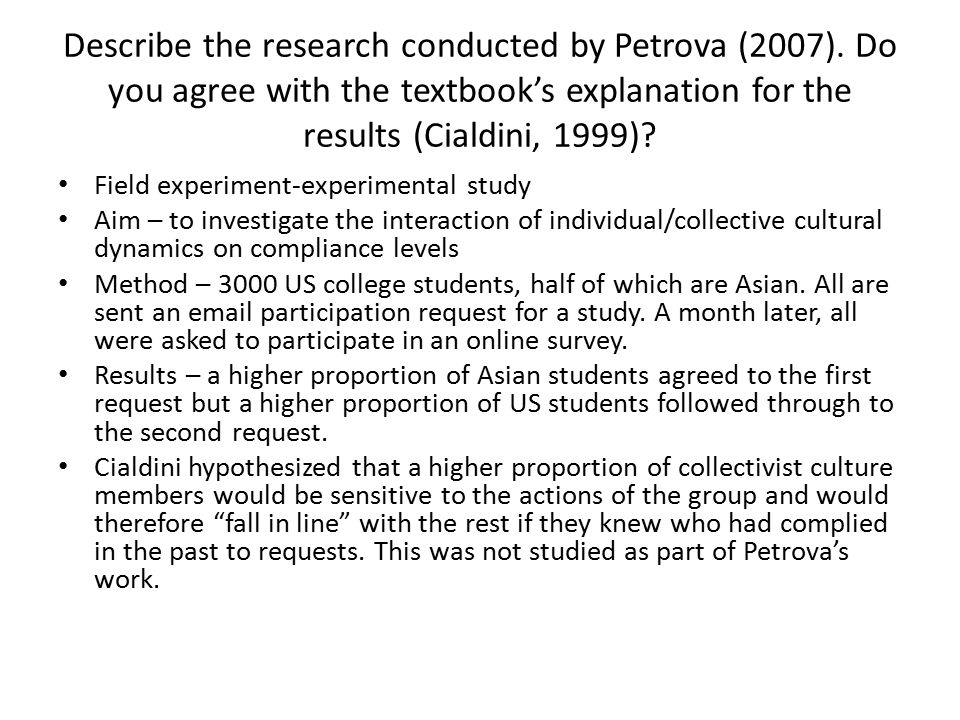 Describe the research conducted by Petrova (2007)