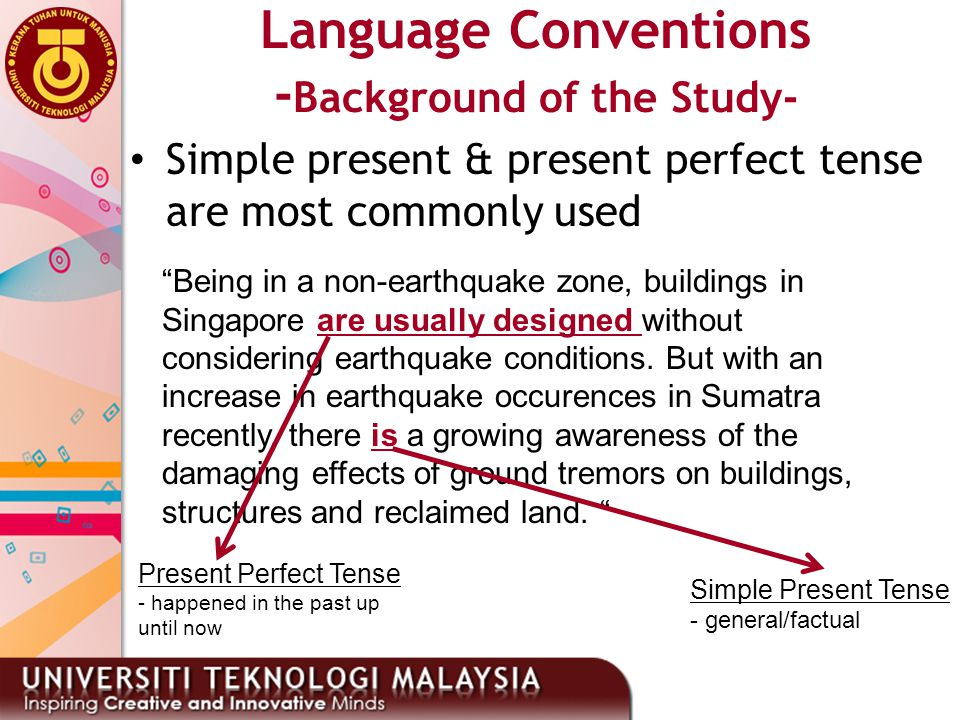 Language Conventions -Background of the Study-