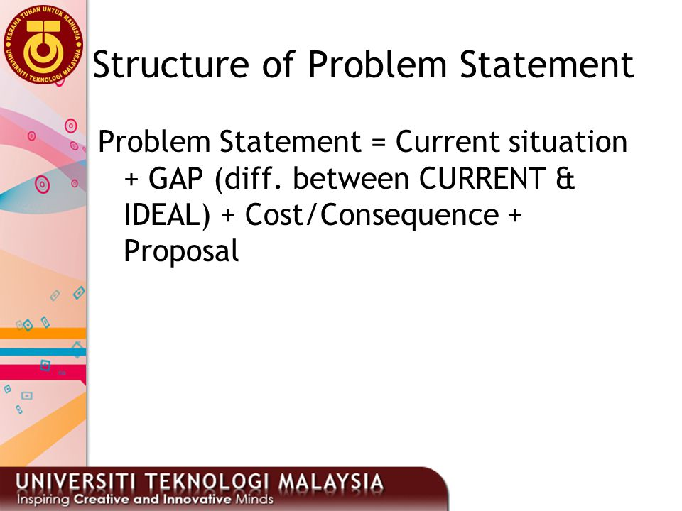Structure of Problem Statement