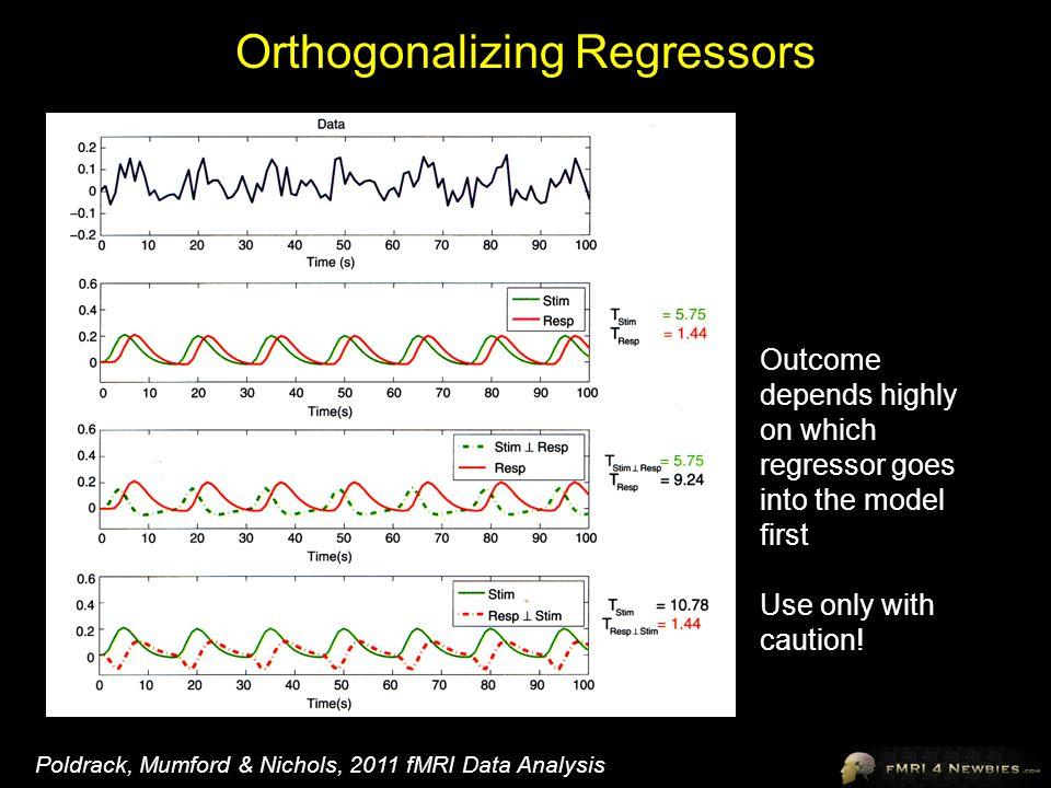 Orthogonalizing Regressors
