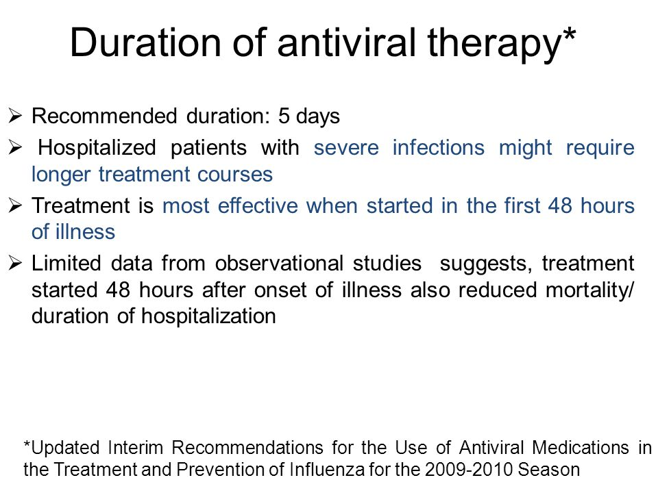Duration of antiviral therapy*