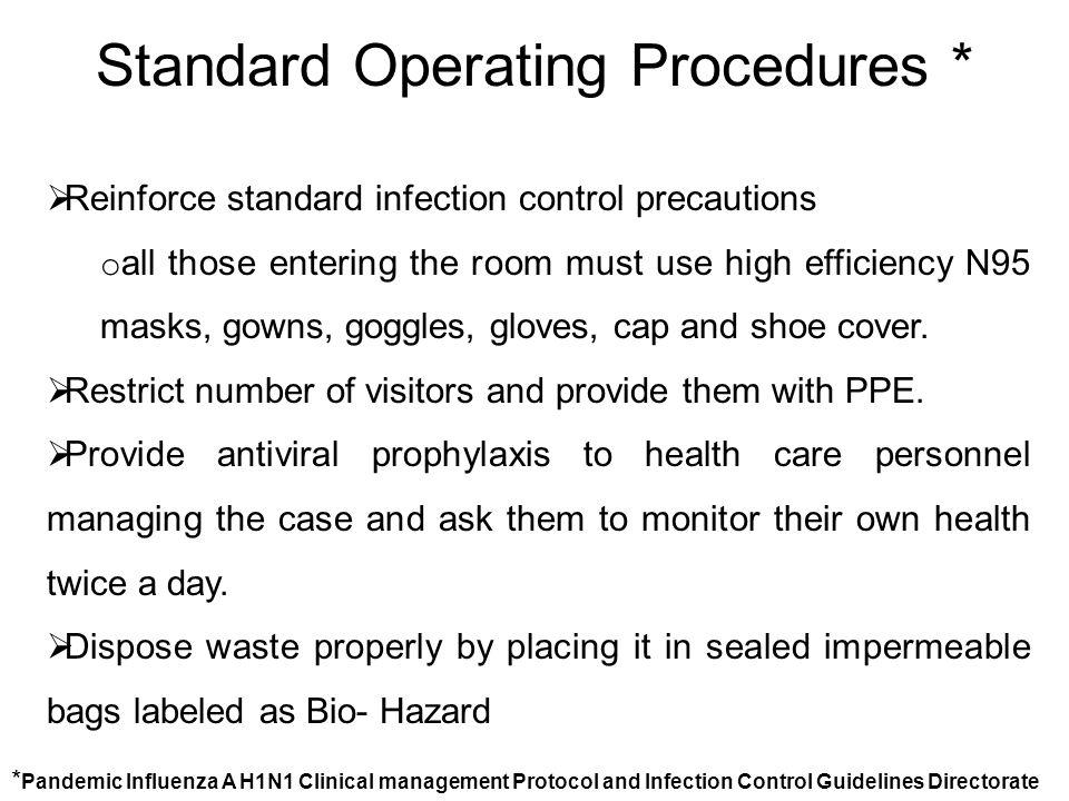 Standard Operating Procedures *