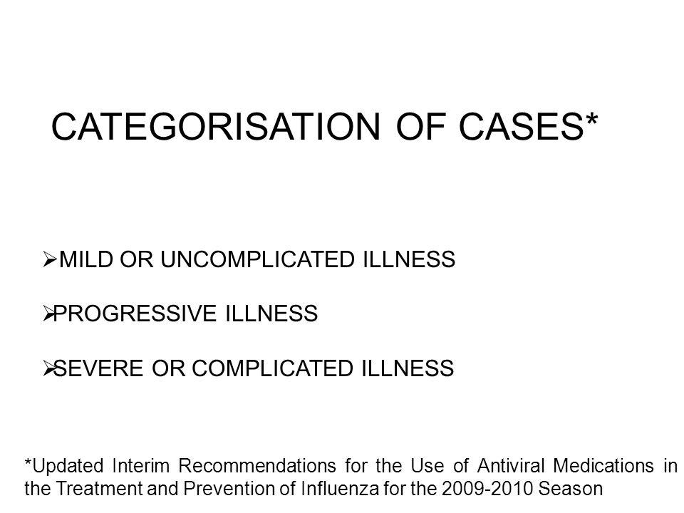 CATEGORISATION OF CASES*