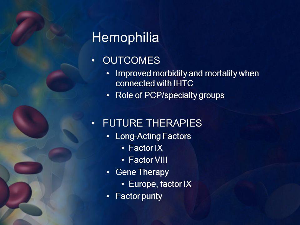 Hemophilia OUTCOMES FUTURE THERAPIES