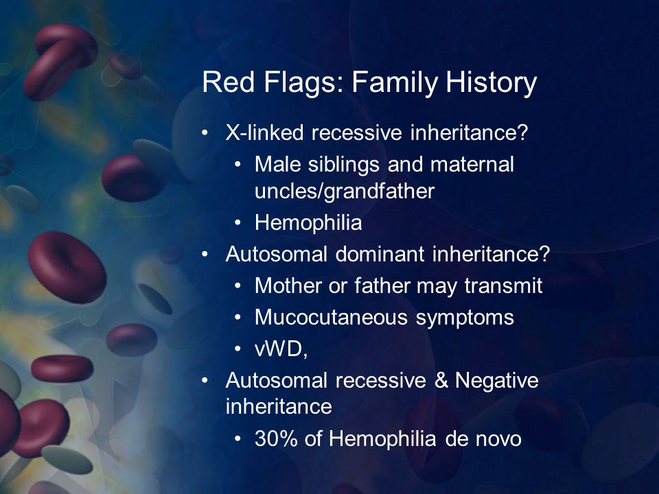 Red Flags: Family History
