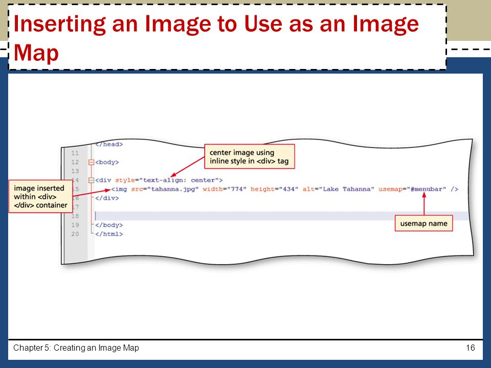 Inserting an Image to Use as an Image Map