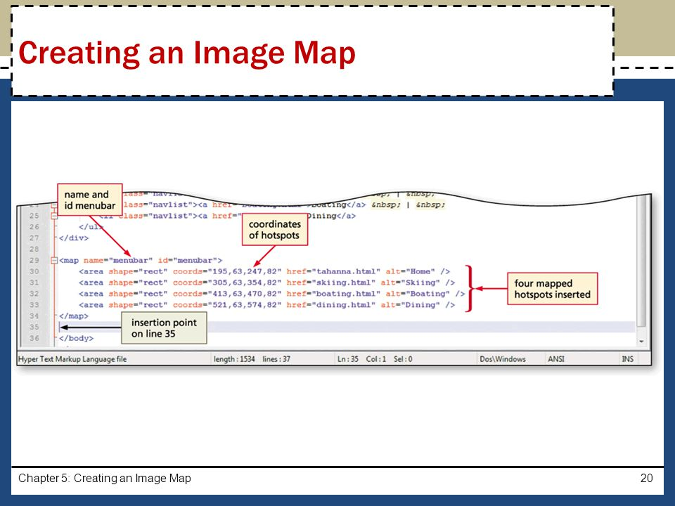 Creating an Image Map Chapter 5: Creating an Image Map