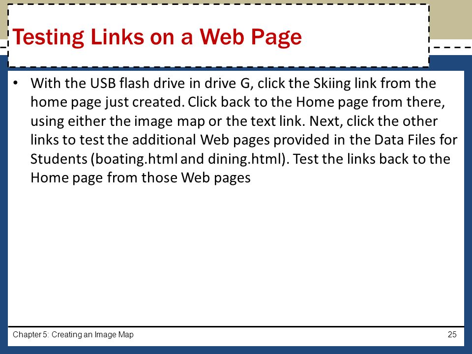 Testing Links on a Web Page