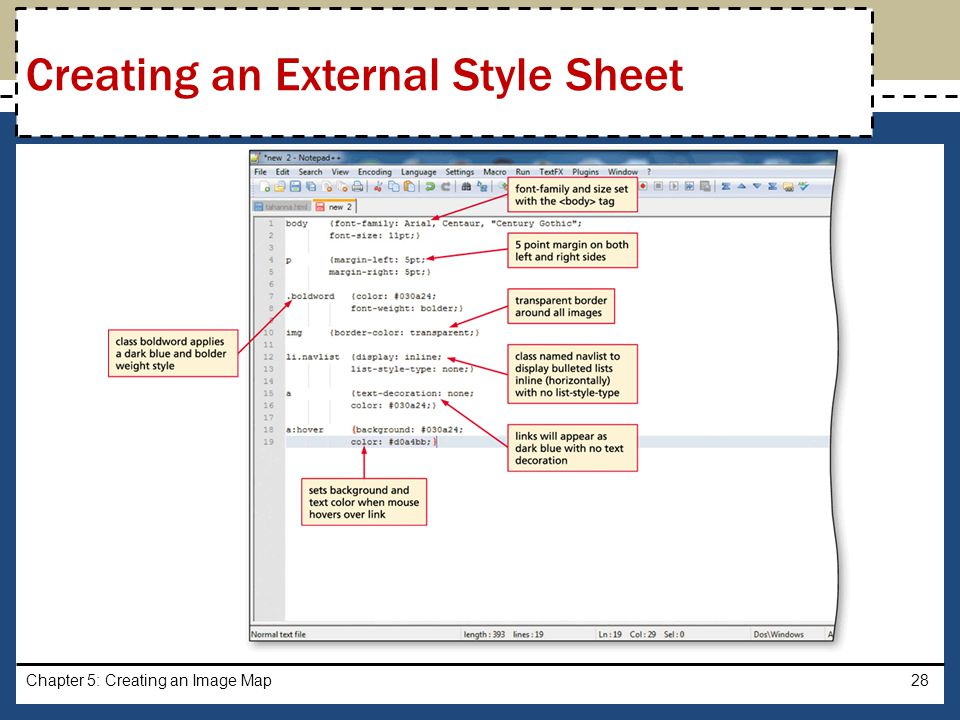 Creating an External Style Sheet
