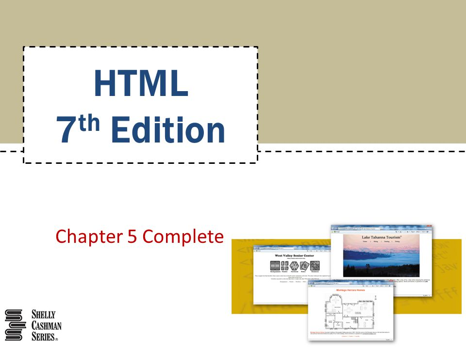 HTML 7th Edition Chapter 5 Complete