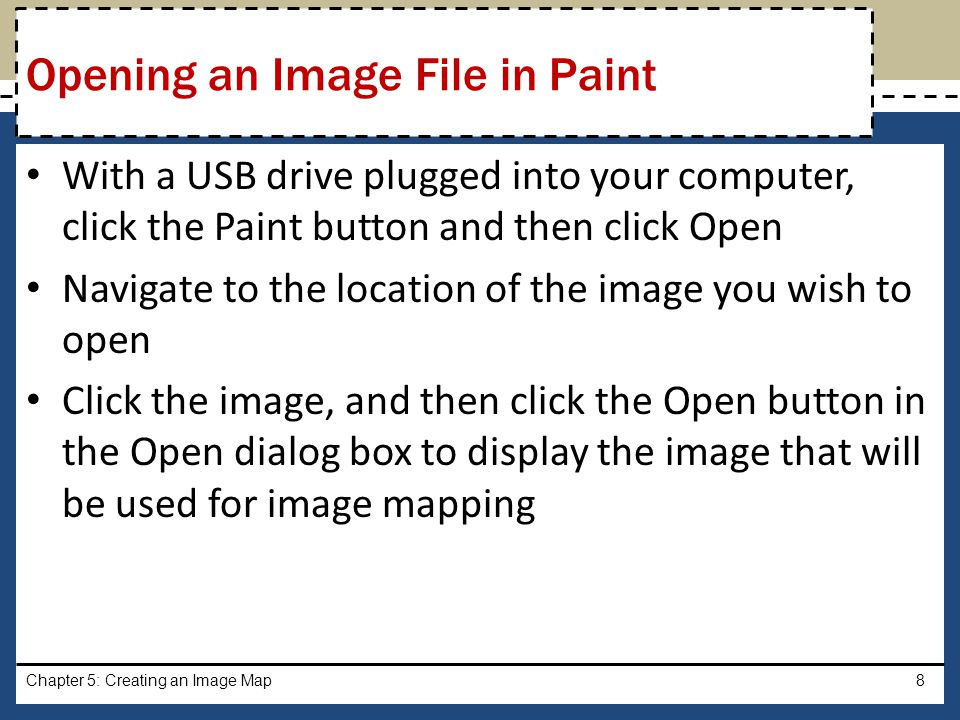 Opening an Image File in Paint