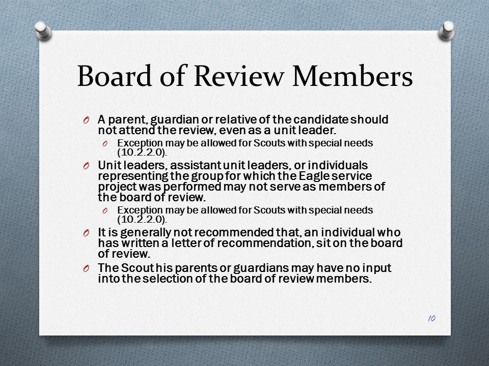 Board of Review Members