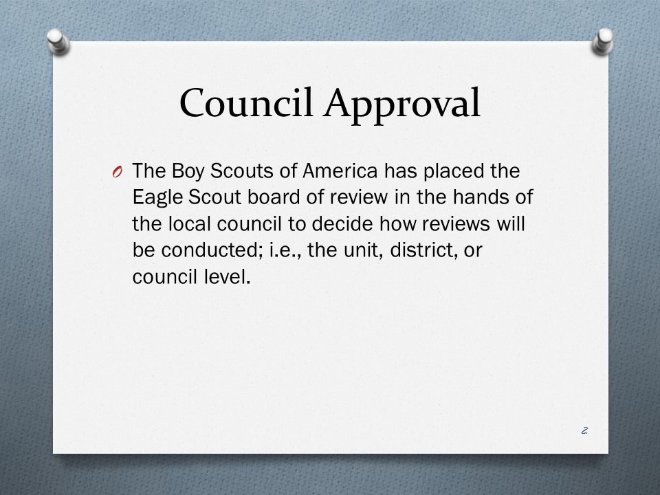 Council Approval
