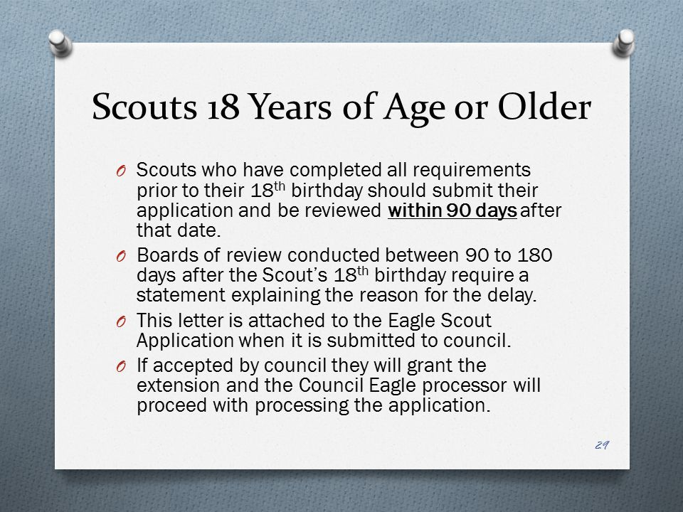 Scouts 18 Years of Age or Older