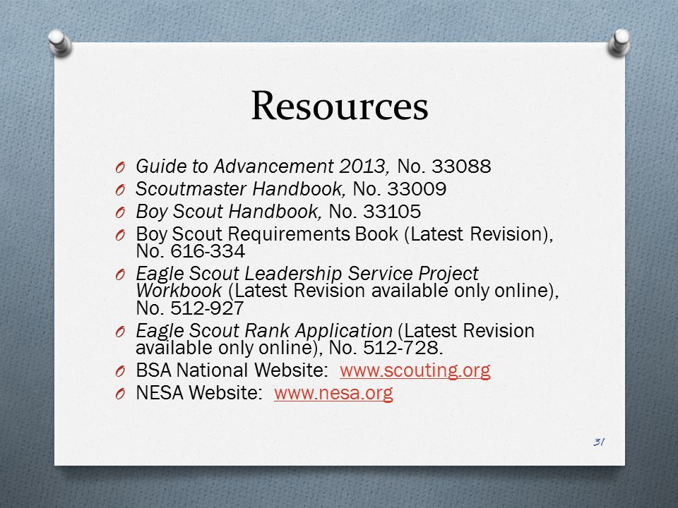 Resources Guide to Advancement 2013, No. 33088