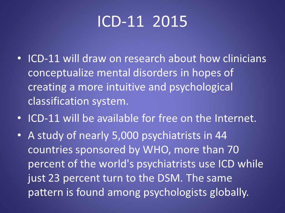 ICD-11 2015