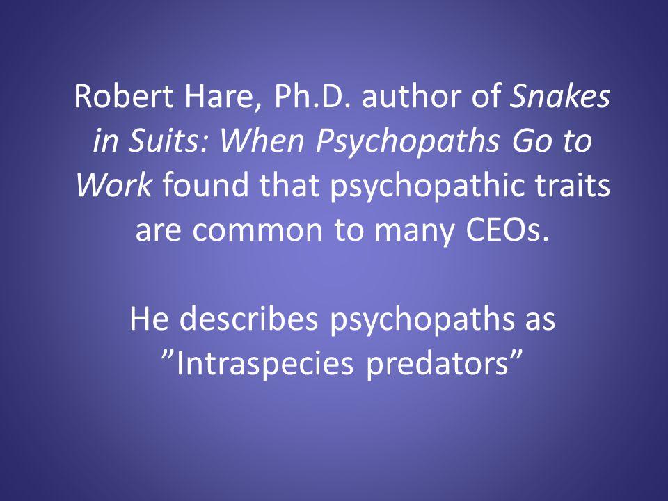 Robert Hare, Ph.D.