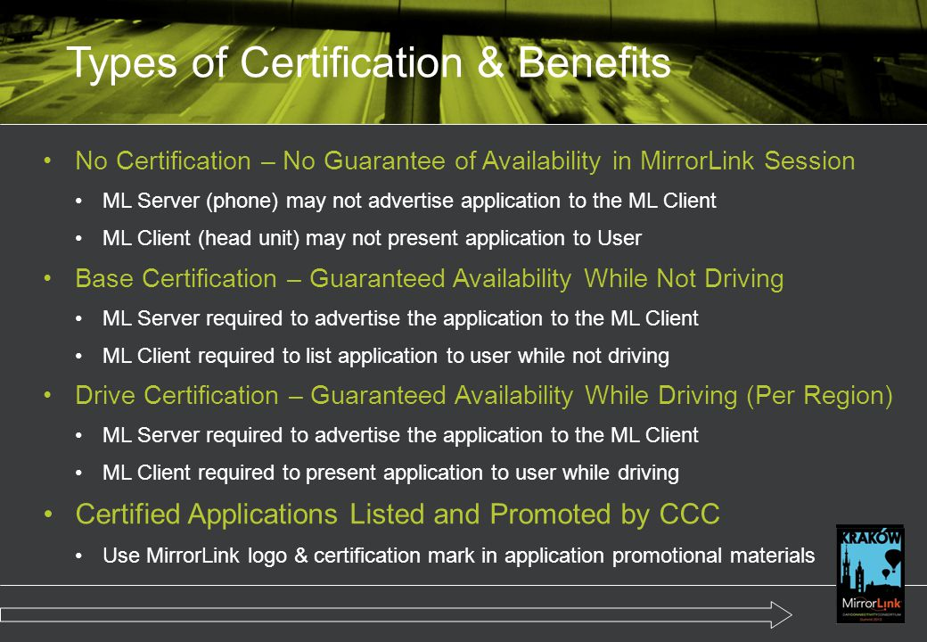 Types of Certification & Benefits