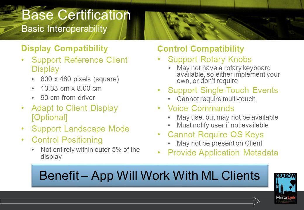 Base Certification Basic Interoperability