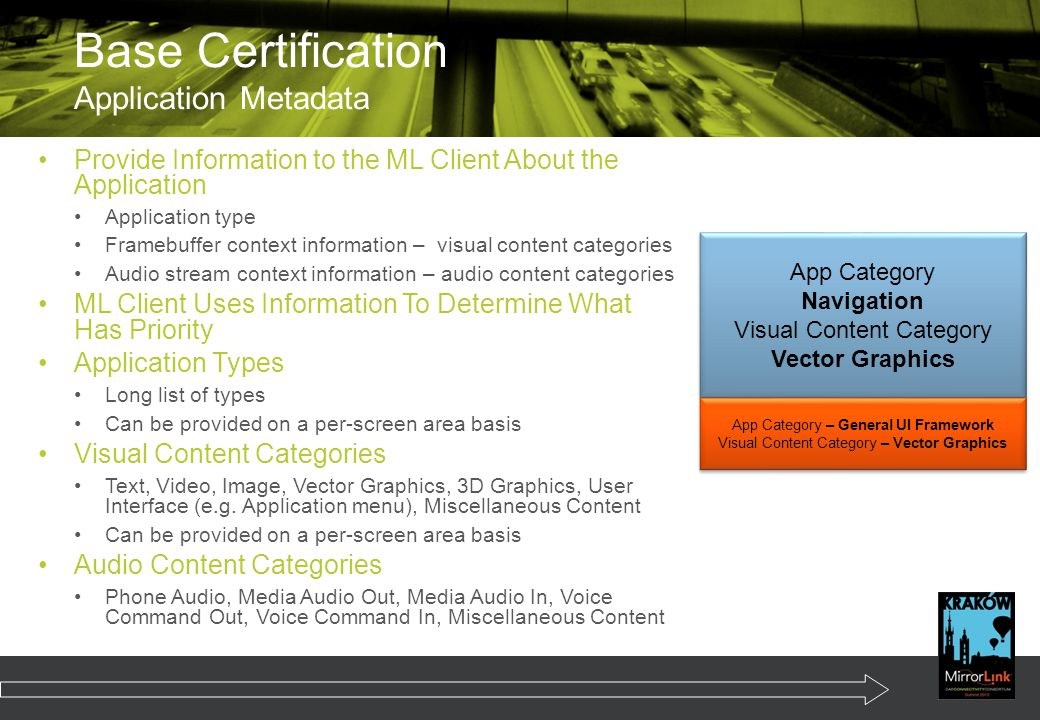Base Certification Application Metadata
