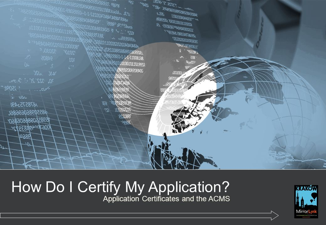 How Do I Certify My Application