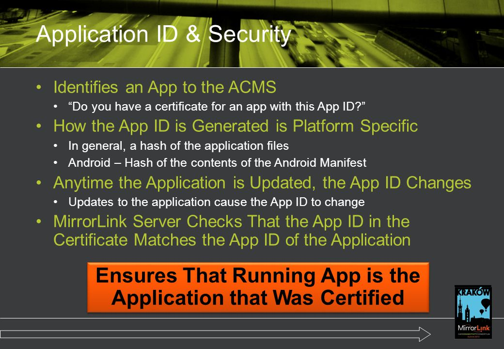 Application ID & Security