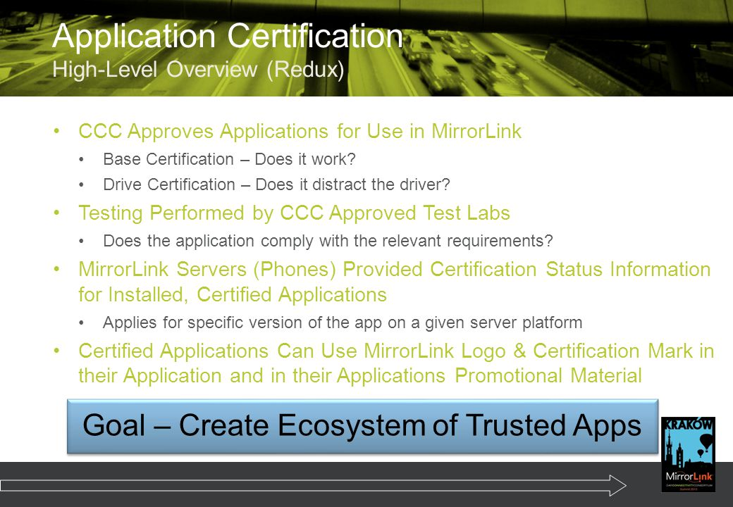 Application Certification High-Level Overview (Redux)
