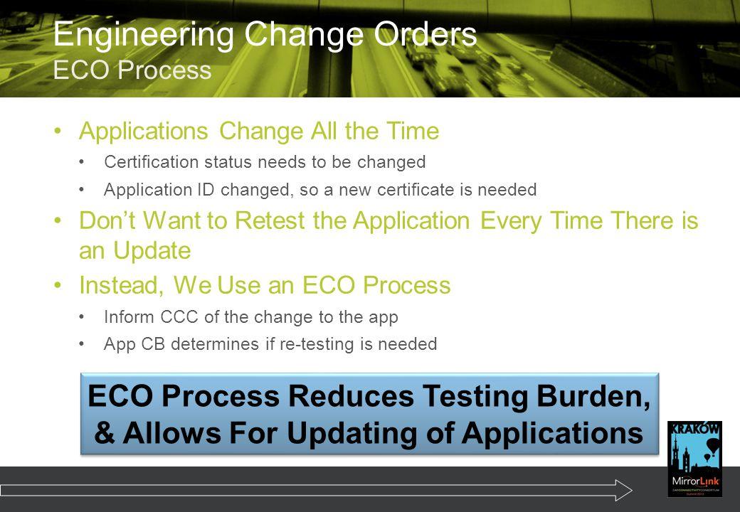 Engineering Change Orders ECO Process
