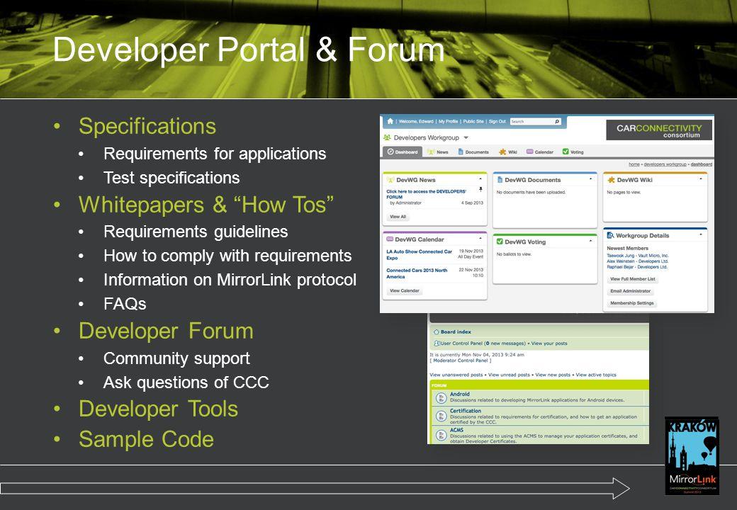 Developer Portal & Forum