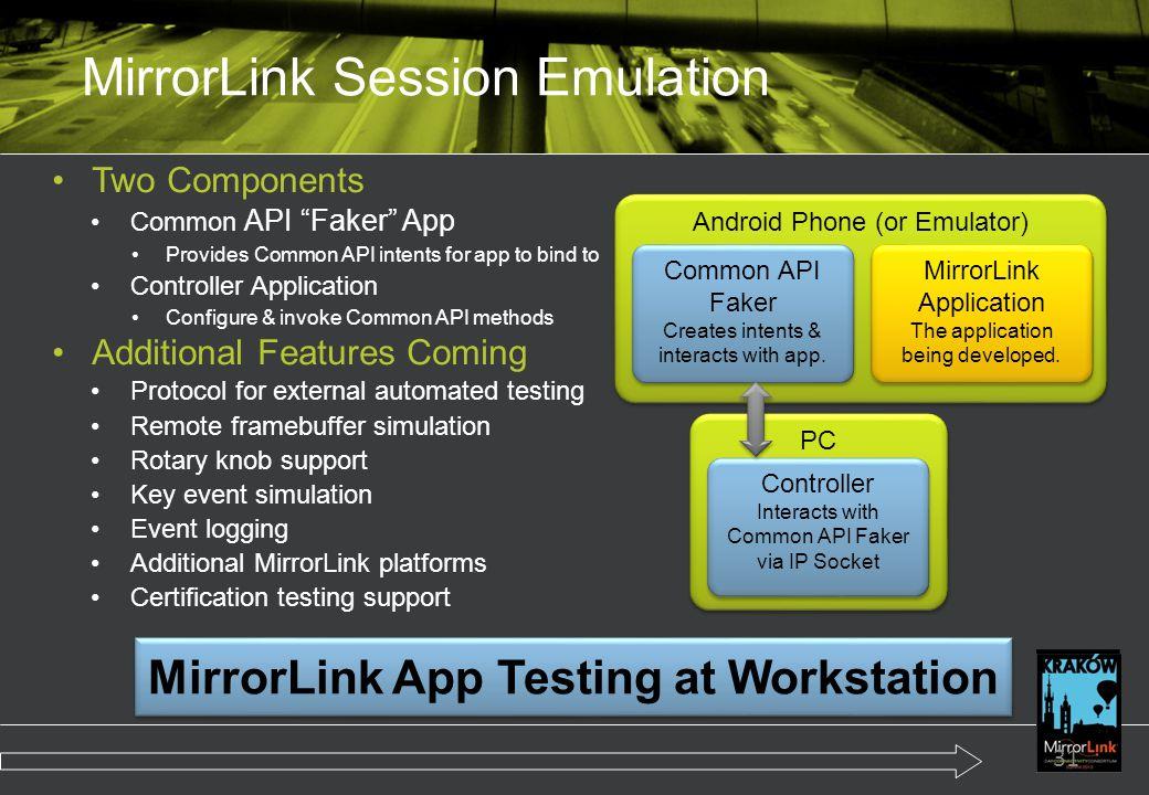 MirrorLink Session Emulation