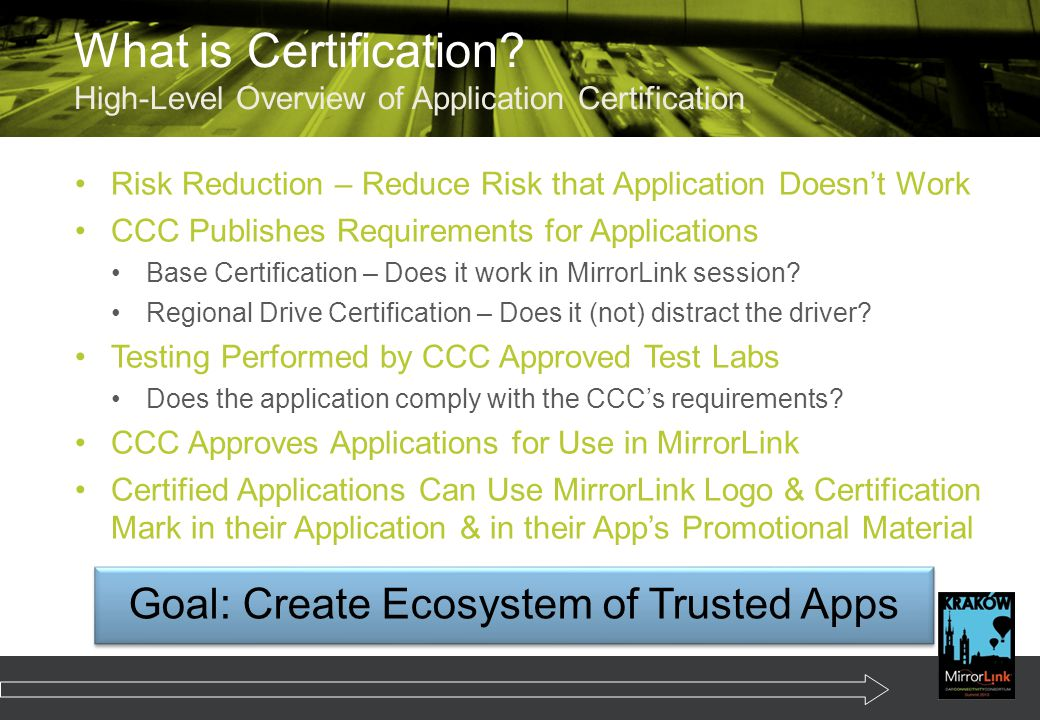 Goal: Create Ecosystem of Trusted Apps