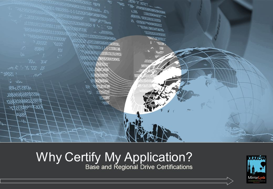 Why Certify My Application