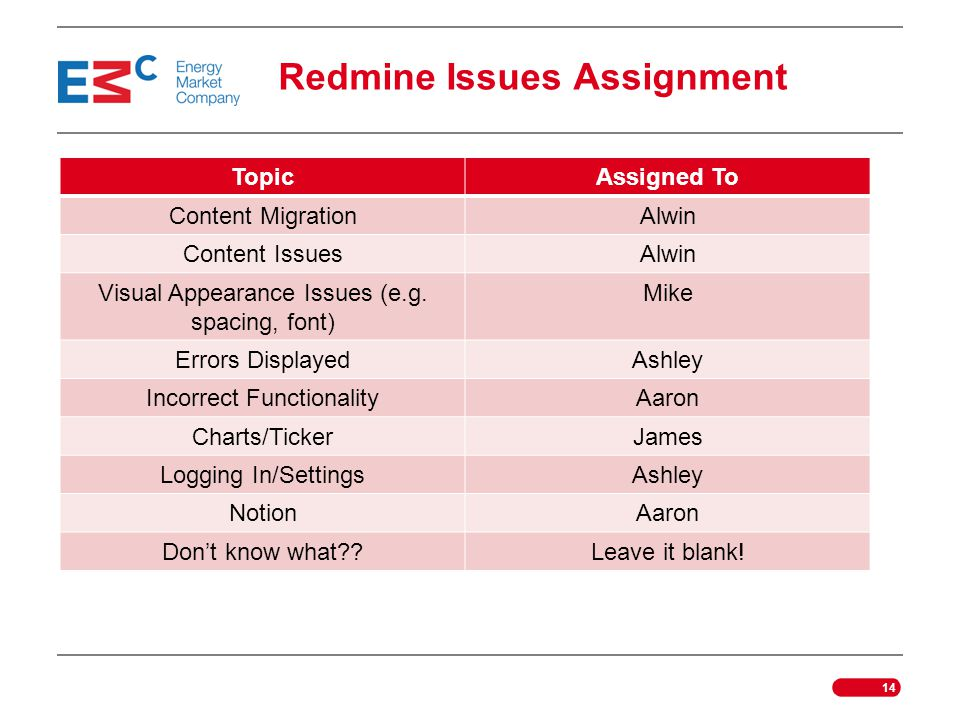 Redmine Issues Assignment