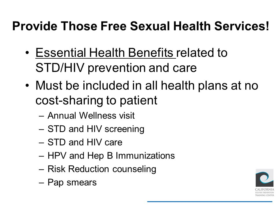 Provide Those Free Sexual Health Services!