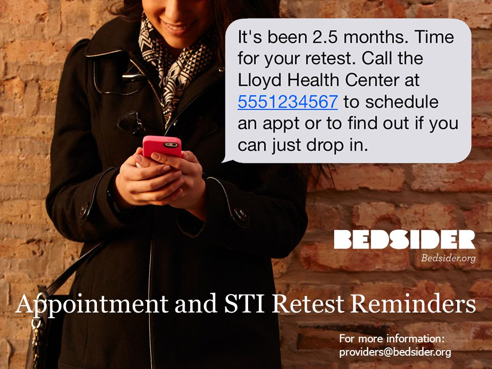 Appointment and STI Retest Reminders